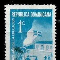 Sellos: REP. DOMINICANA SCOTT: RA44-(1969) (IMPUESTO POSTAL) (AÑO DE LA EDUCACION) USADO. Lote 191931648