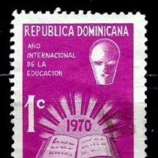 Sellos: REP. DOMINICANA SCOTT: RA48-(1970) (IMPUESTO POSTAL) (AÑO INTERN. DE LA EDUCACION) USADO. Lote 191931820