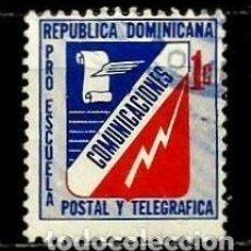 Sellos: REP. DOMINICANA SCOTT: RA53-(1972) (IMPUESTO POSTAL) (ESCUELA POSTAL Y TELEGRÁFICA) USADO. Lote 191932032
