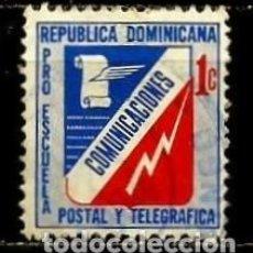 Sellos: REP. DOMINICANA SCOTT: RA53-(1972) (IMPUESTO POSTAL) (ESCUELA POSTAL Y TELEGRÁFICA) USADO. Lote 191932043
