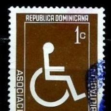 Sellos: REP. DOMINICANA SCOTT: RA59-(1973) (IMPUESTO POSTAL) (REHABILITACION) USADO. Lote 191932183
