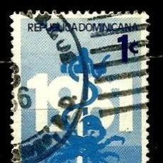 Sellos: REP. DOMINICANA SCOTT: RA93-(1982) (IMPUESTO POSTAL) (LIGA DOMINICANA CONTRA EL CÁNCER.) USADO. Lote 191932375