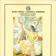 Sellos: DOCUMENTO PARA CONMEMORAR EL 50 ANIVERSARIO DEL BANCO CENTRAL, REP.DOMINICANA. Lote 193242220