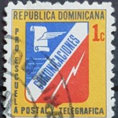 Sellos: REP. DOMINICANA_SELLO USADO_EMBLEMA CORREOS TELEGRAFOS AMARILLO_YT-DO B51D AÑO 1974 LOTE 8938. Lote 195061155