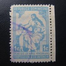 Sellos: REPUBLICA DOMINICANA, YVERT 9 BENEFICENCIA. Lote 199759757
