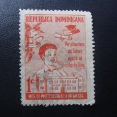 Sellos: REPUBLICA DOMINICANA 1967, PROTECCION DE LA INFANCIA, YVERT 31 BENEFICENCIA. Lote 199761491