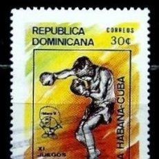 Sellos: REP. DOMINICANA SCOTT: 1100-(1991) (JUEGOS PANAMERICANOS, BOXEO) USADO. Lote 202579815