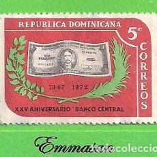 Sellos: REPÚBLICA DOMINICANA - MICHEL 1011 - XXV ANIVERSARIO DEL BANCO CENTRAL. (1973).. Lote 206239901