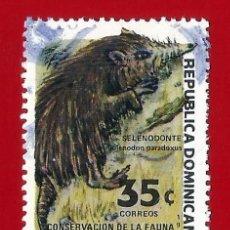 Sellos: REPUBLICA DOMINICANA. 1984. CONSERVACION DE LA NATURALEZA. SELENODONTE. Lote 211502686