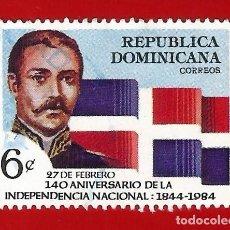 Sellos: REPUBLICA DOMINICANA. 1984. 140 ANIVERSARIO DE LA INDEPENDENCIA. Lote 211503611