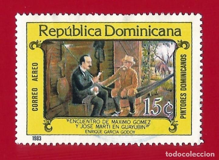 REPUBLICA DOMINICANA. 1983. PINTORES DOMINICANOS. MXIMO GOMEZ Y JOSE MARTI (Sellos - Extranjero - América - República Dominicana)