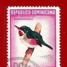Sellos: REPUBLICA DOMINICANA. 1964. PAJAROS. BARRANCOLI. Lote 211506104
