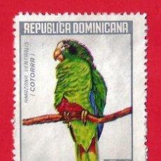 Sellos: REPUBLICA DOMINICANA. 1964. LORO. COTORRA. Lote 211506712