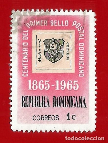 Sellos: REPUBLICA DOMINICANA. 1965. CENTENARIO PRIMER SELLO POSTAL - Foto 1 - 211507042