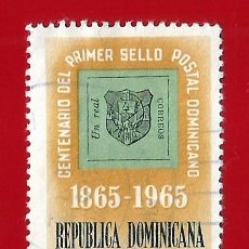 Sellos: REPUBLICA DOMINICANA. 1965. CENTENARIO PRIMER SELLO POSTAL. Lote 211507245