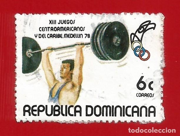 REPUBLICA DOMINICANA. 1978. JUEGOS DEPORTIVOS. LEVANTAMIENTO PESAS (Sellos - Extranjero - América - República Dominicana)