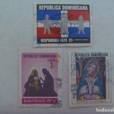 Sellos: LOTE DE 3 SELLOS DE LA REPUBLICA DOMINICANA : NAVIDAD , ETC. Lote 216606142