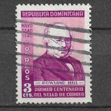 Sellos: DOMINICANA,1940,CENTENARIO DEL SELLO, YVERT 334,USADO. Lote 218458527