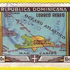Francobolli: REPUBLICA DOMINICANA. 1946. FUNDACION DE SANTO DOMINGO. MAPA. Lote 219814851