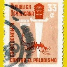 Sellos: REPUBLICA DOMINICANA. 1962. LUCHA CONTRA LA MALARIA. Lote 220174692