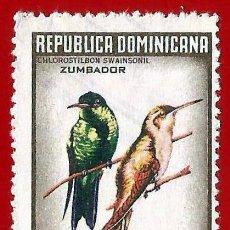 Francobolli: REPUBLICA DOMINICANA. 1964. PAJAROS. ZUMBADOR. Lote 221669620