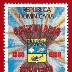 Francobolli: REP. DOMINICANA. 1981. CENTENARIO DE SALCEDO. Lote 221858458