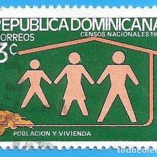 Sellos: REP. DOMINICANA. 1981. CENSOS NACIONALES. FAMILIA. Lote 221858707
