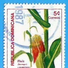 Sellos: REP. DOMINICANA. 1986. PLANTAS MEDICINALES. MAIZ. Lote 222055776
