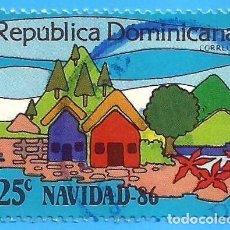 Sellos: REP. DOMINICANA. 1986. NAVIDAD. Lote 222055960