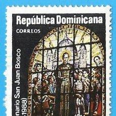 Sellos: REP. DOMINICANA. 1988. SAN JUAN BOSCO. Lote 222064470
