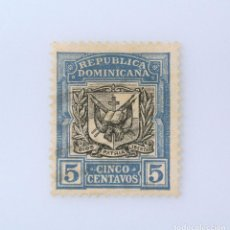 Sellos: SELLO POSTAL REPUBLICA DOMINICANA 1907, 5 ¢, ESCUDO DE ARMAS, USADO. Lote 229820750