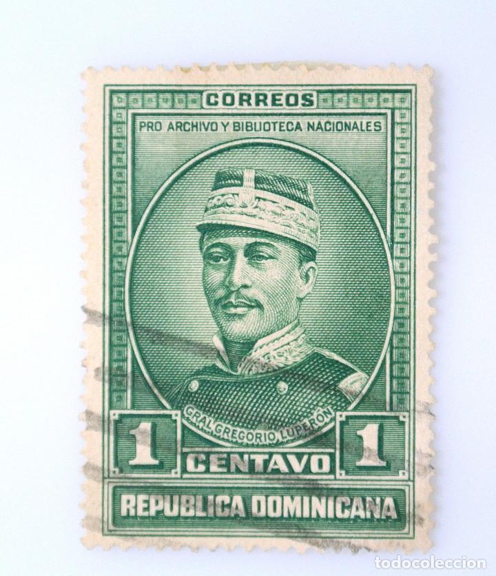 SELLO POSTAL REPUBLICA DOMINICANA 1936, 1 ¢ GENERAL GERGORIO LUPERON, USADO (Sellos - Extranjero - América - República Dominicana)
