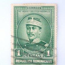 Sellos: SELLO POSTAL REPUBLICA DOMINICANA 1936, 1 ¢ GENERAL GERGORIO LUPERON, USADO. Lote 229823045