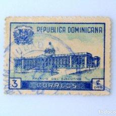 Sellos: SELLO POSTAL REPUBLICA DOMINICANA 1948, 3 ¢ , PALACIO DEL EJECUTIVO, USADO. Lote 229837280