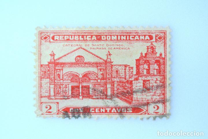 Sellos: SELLO POSTAL REPUBLICA DOMINICANA 1931, 2 ¢ , CATEDRAL DE SANTO DOMINGO, USADO - Foto 1 - 229844935