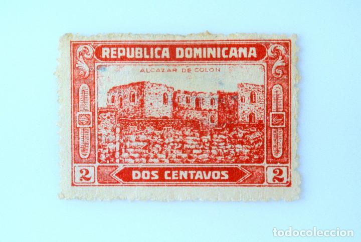 SELLO POSTAL REPUBLICA DOMINICANA 1928, 2 ¢ , RUINAS ALCAZAR DE COLON, USADO (Sellos - Extranjero - América - República Dominicana)