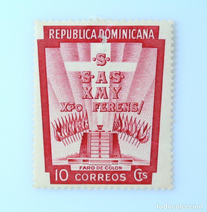 SELLO POSTAL REPUBLICA DOMINICANA 1953, 10 ¢ , FARO DE COLON, SIN USAR (Sellos - Extranjero - América - República Dominicana)