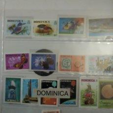 Sellos: LOTE 15 SELLOS DOMINICA,SIN MATASELLOS.. Lote 231447705