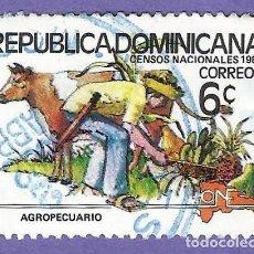 Francobolli: REPUBLICA DOMINICANA. 1981. CENSOS NACIONALES. AGROPECUARIO. Lote 242945310