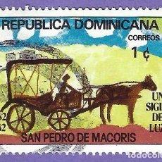 Francobolli: REPUBLICA DOMINICANA. 1982. SAN PEDRO DE MACORIS. CARRO. Lote 242946370