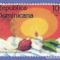 Sellos: REPUBLICA DOMINICANA. 1985. NAVIDAD. FRUTAS TIPICAS. Lote 242988025