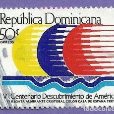 Sellos: REPUBLICA DOMINICANA. 1987. V CENTENARIO DESCUBRIMIENTO AMERICA. Lote 242991870