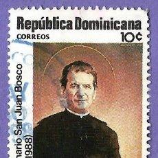 Francobolli: REPUBLICA DOMINICANA. 1988. SAN JUAN BOSCO. SALESIANOS. Lote 242992220
