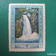 Sellos: REPUBLICA DOMINICANA, 1946, SALTO DEL JIMENOA, YVERT 69 AEREO. Lote 245457380