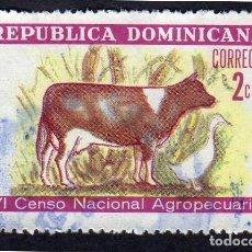 Sellos: AMÉRICA. R. DOMINICANA. VI CENSO NACIONAL AGROPECUARIO: YT701. USADO SIN CHARNELA. Lote 254627220