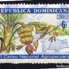 Sellos: AMÉRICA. R. DOMINICANA. VI CENSO NACIONAL AGROPECUARIO: YT703. USADO SIN CHARNELA. Lote 254627640