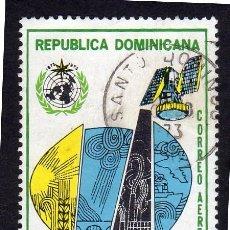 Sellos: AMÉRICA. R. DOMINICANA. CENTENARIO ORGANIZACIÓN METEOROLÓGICA MUNDIAL YT1253. USADO SIN CHARNELA. Lote 254629385