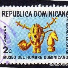 Sellos: AMÉRICA. R. DOMINICANA. ARTESANÍA.MUSEO DEL HOMBRE DOMINICANO YT737. USADO SIN CHARNELA. Lote 254629950