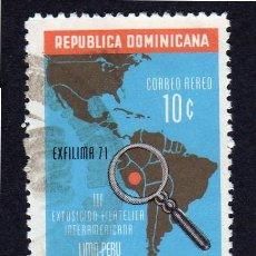 Sellos: AMÉRICA. R. DOMINICANA. III EXPOSICIÓN FILATÉLICA. LIMA PERÚ YTPA231. USADO SIN CHARNELA. Lote 254630320