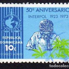 Sellos: AMÉRICA. R. DOMINICANA. 50 ANIVERSARIO DE LA INTERPOL. YTPA254. USADO SIN CHARNELA. Lote 254630500